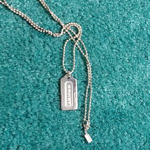 Coach Sterling silver necklace NWOT